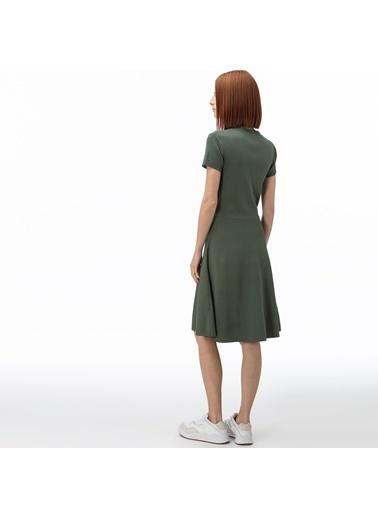 Lacoste Kadın V Yaka Elbise EF0059.59H Yeşil